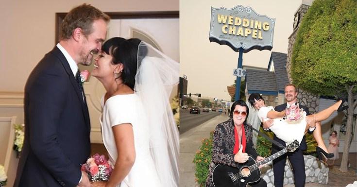 Con hamburguesas y en Las Vegas: Lily Allen y David Harbour se casaron en secreto