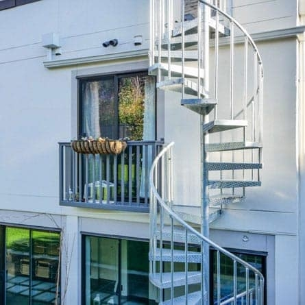 Spiral Staircases For Decks Patios Paragon Stairs | Outdoor Spiral Staircase For Deck | Farmhouse | Basement | Multi Level | 2Nd Floor | Steel