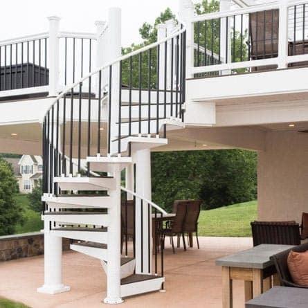 Spiral Staircases For Decks Patios Paragon Stairs | Spiral Staircase Outdoor Deck | Log | Portable Rectangular Concrete | Metal | Porch | Black