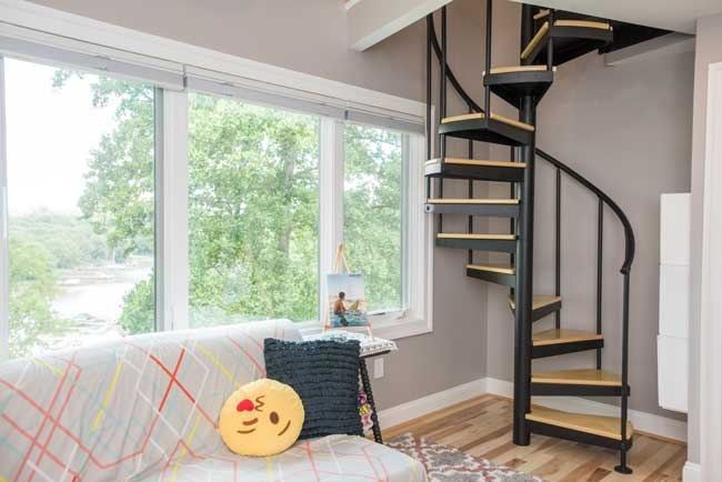 Loft Spiral Staircases 5 000 Design Options Paragon Stairs | Spiral Staircase Into Loft | Loft Conversion | Small Spaces | Tiny House | Space Saving | Staircase Design