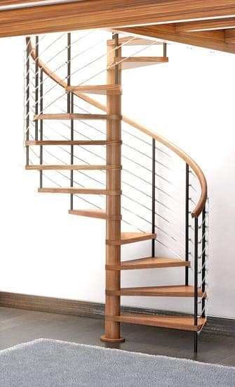 Wood Staircases Straight Spiral Paragon Stairs | Wooden Spiral Staircase For Sale | Solid Wood | 36 Inch Diameter | Unique | Curved | Closed Riser