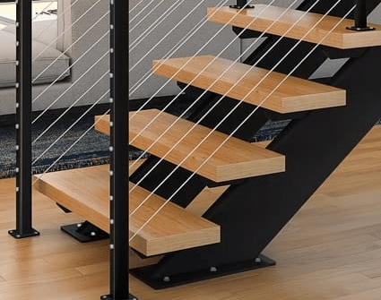 Prefab Staircases Indoor Outdoor Paragon Stairs | Prefab Outdoor Wood Stairs | Manufactured Home | Trailer | 8 Foot | New Style | Portable