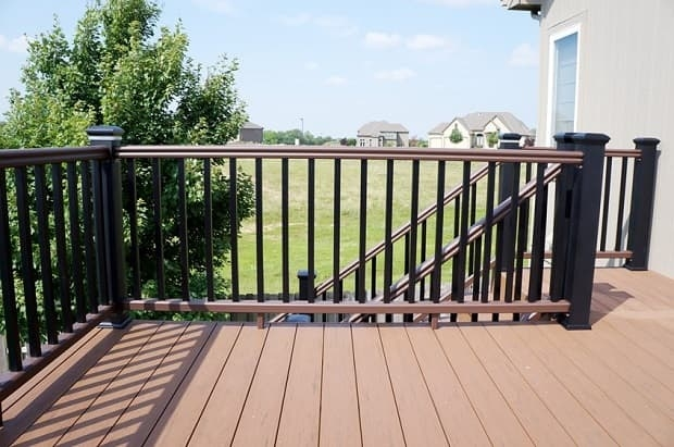 Decorative Deck Railing Designs Ideas Salter Spiral Stair | Decorative Handrails For Outdoor Steps | Exterior Black Metal | Foldable | Single Post | Farmhouse | Solid Wood