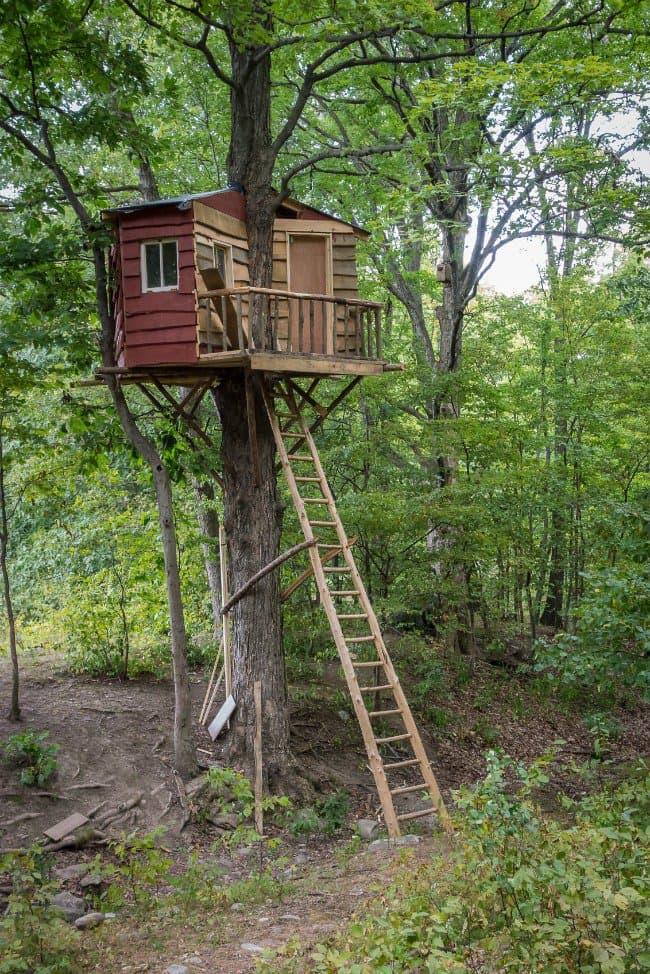 Amazing Backyard Tree House Getaways | Salter Spiral Stair on Backyard House Ideas id=91554