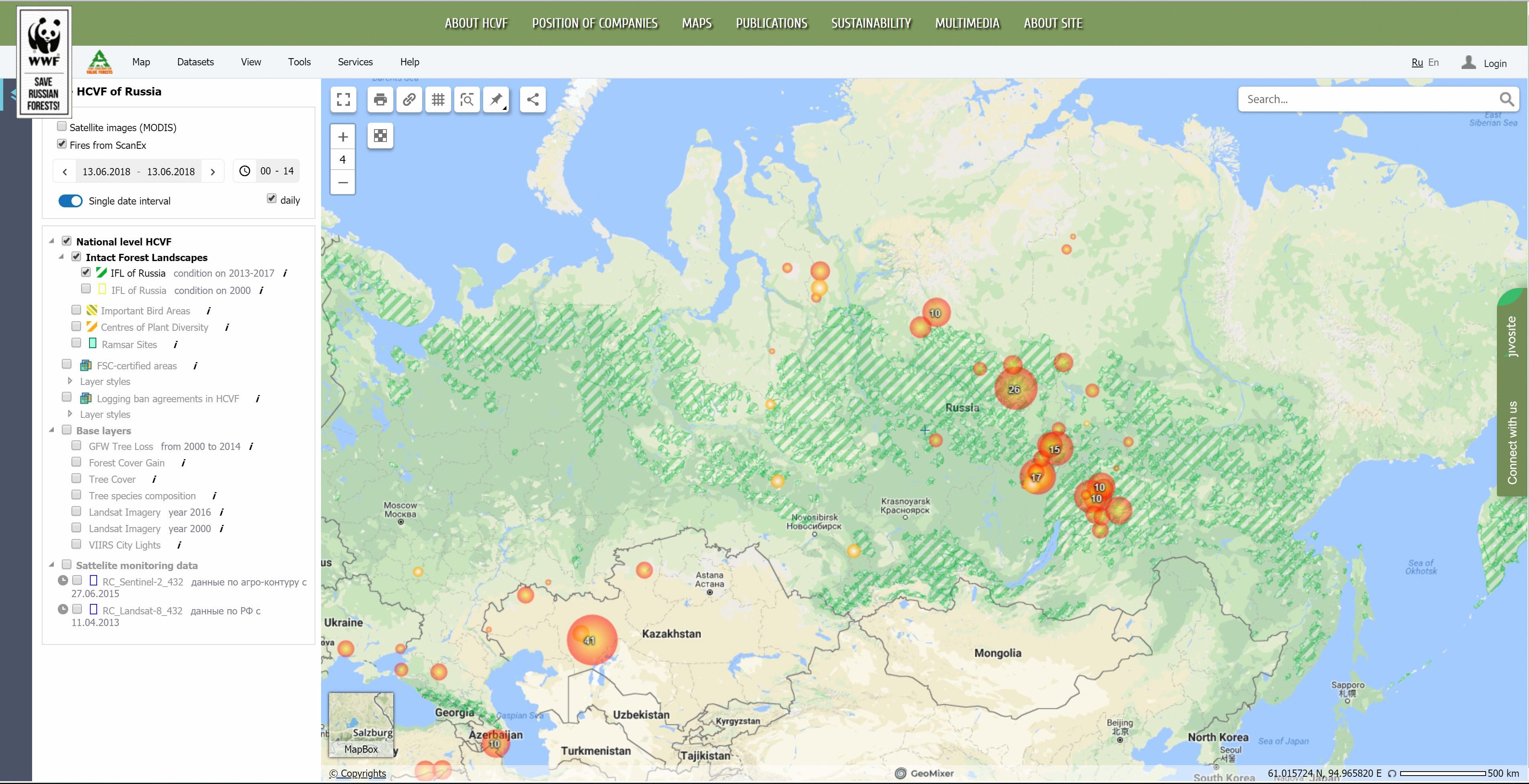North European Plain Russia Map