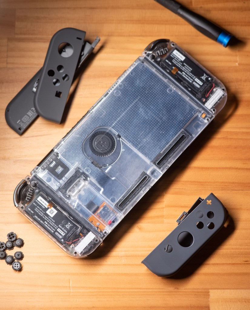 透明 Nintendo Switch DIY 外殼 背蓋 及 Joy-Con
