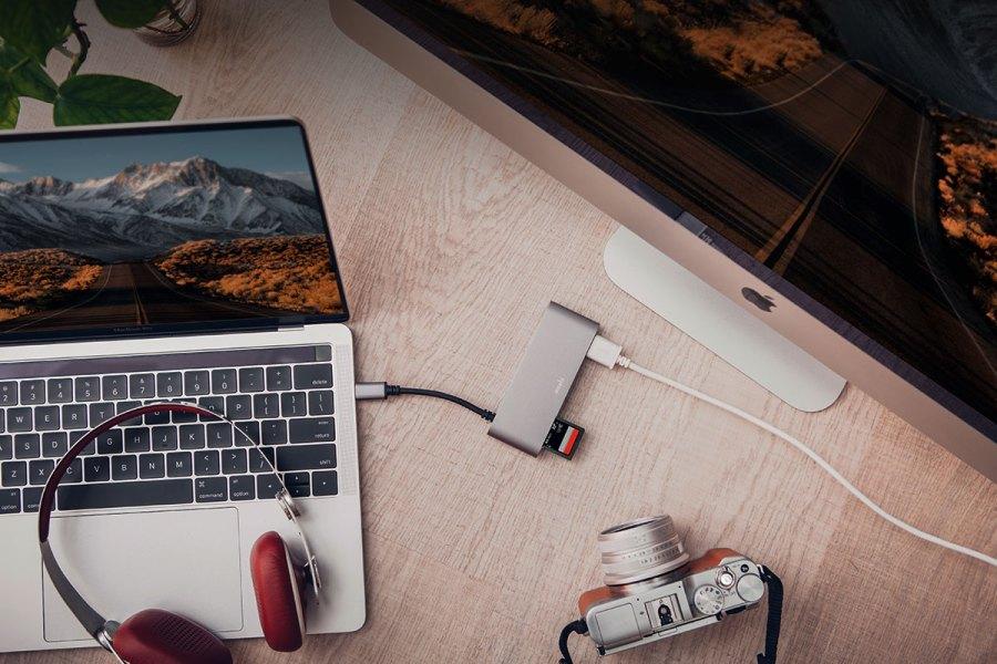 Moshi - USB-C 多媒體轉接器 - 鈦灰