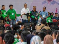 Jokowi ke Ojol: Pekerjaan Mulia dan Sejahterakan Keluarga