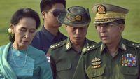 pemimpin de facto myanmar aung san suu ky kiri dan panglima tertinggi militer myanmar min aung hlaing ap aung shine oo 169