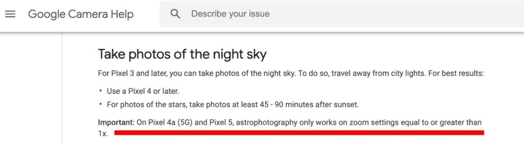 wide angle astrophotography pixel