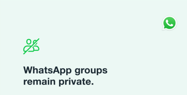 are whatsapp groups private