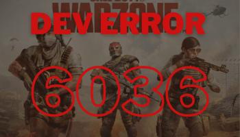 dev error 6036