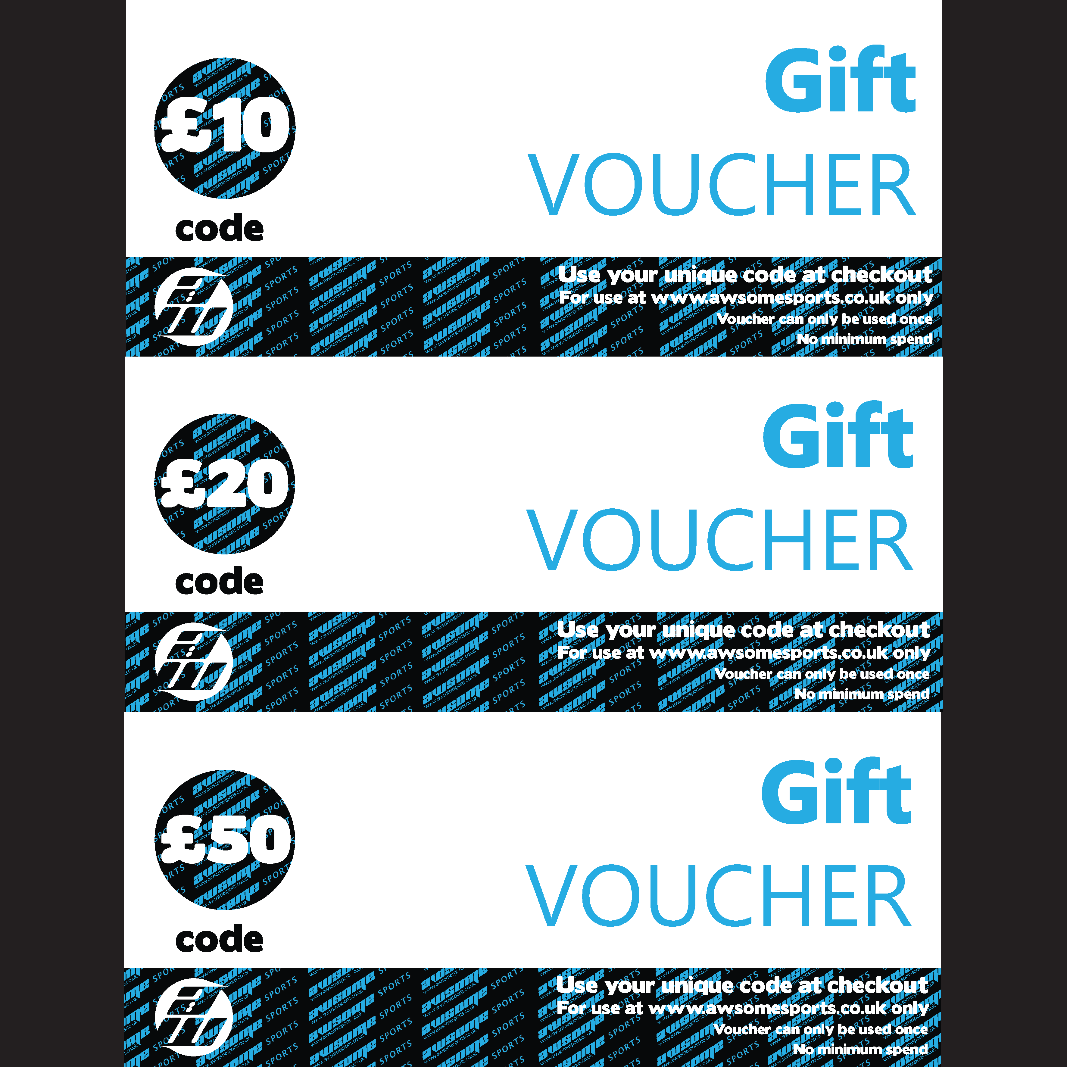 £10 AWsome Sports Gift Voucher