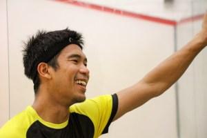 Nafiizwan Adnan - Free squash exhibition night at Warrington Sports Club