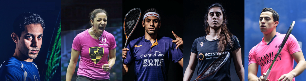 Tarek, Raneem, Mohamed ElShorbagy, Sherbini and Dessouky