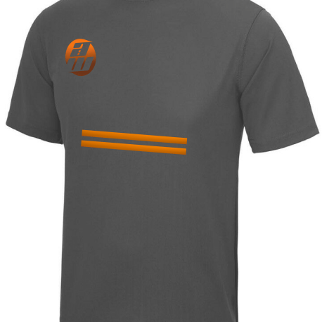 Grey and Orange T-Shirt Front 2