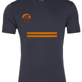 Grey and Orange T-Shirt Front