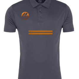 Grey Orange Polo Front