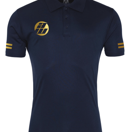 Navy Gold Polo Front