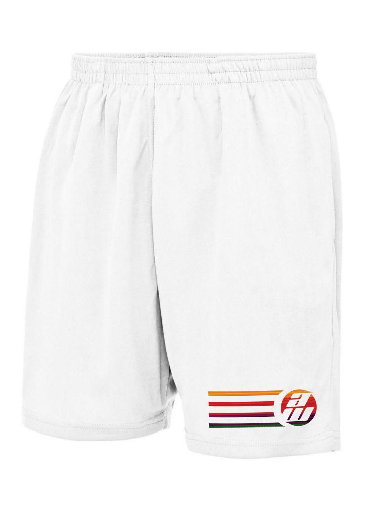 Retro White Shorts