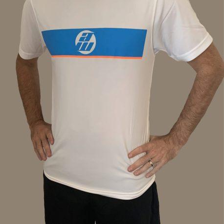 White Panel T-Shirt and Black Shorts