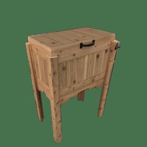 Cedar Cooler Box with Bottle Opener