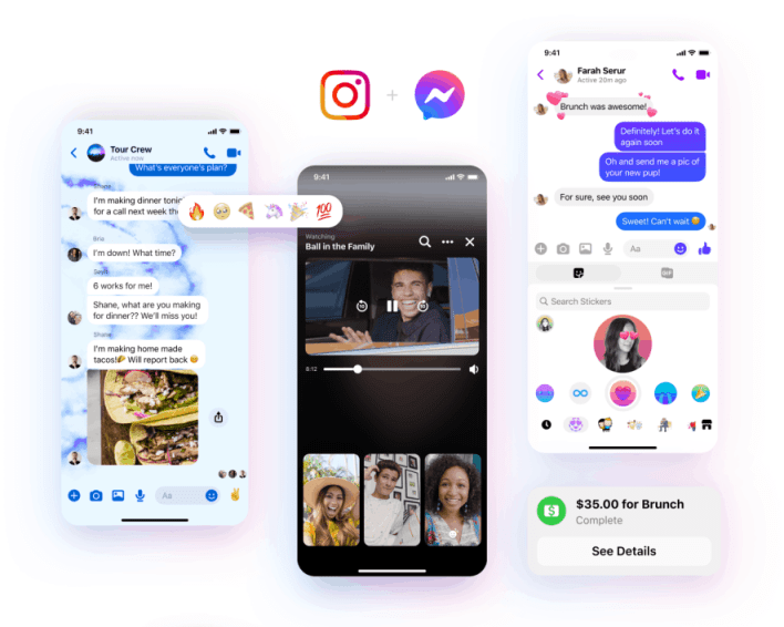 messenger switch to insta
