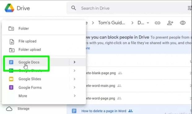 قفل ملفات جوجل درايف الخطوة
