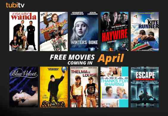 updated Tubi NEW IN APRIL movies