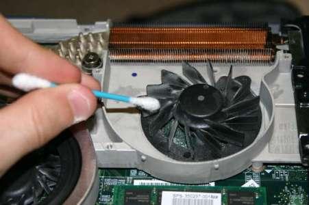 تمیز کردن پردازنده لپ تاپ -