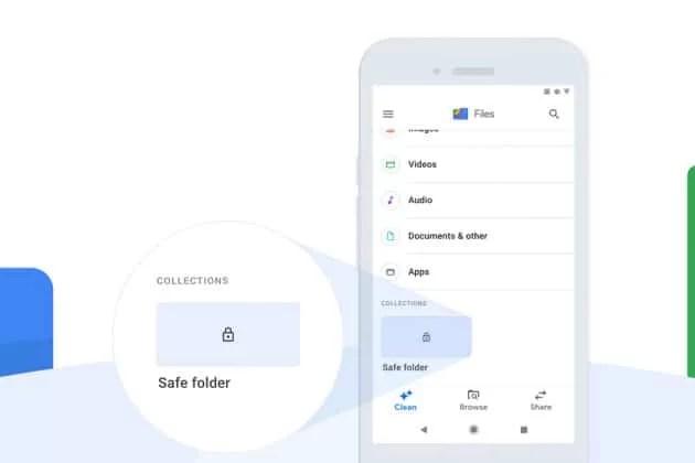 safe folders on google files