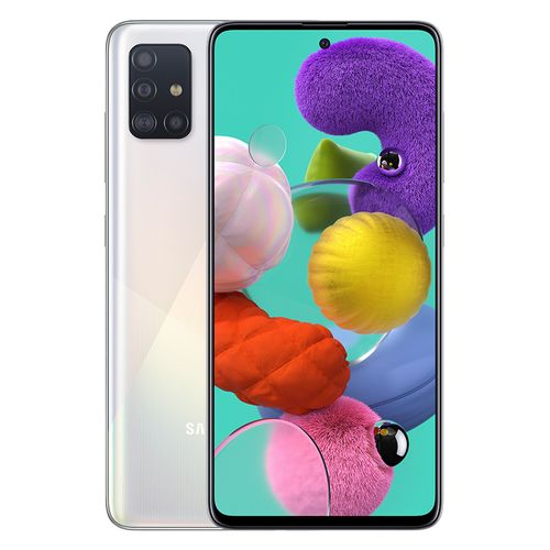 Galaxy A51 - 6.5-inch 128GB/6GB Dual SIM 4G Mobile Phone - Prism Crush White