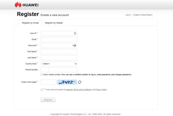 huawei id website computer