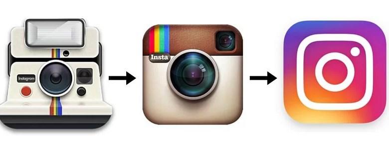 instagram logo au fil des annees