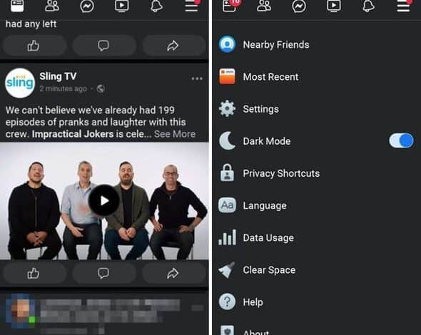 Facebook Dark Mode Release Android iPhone