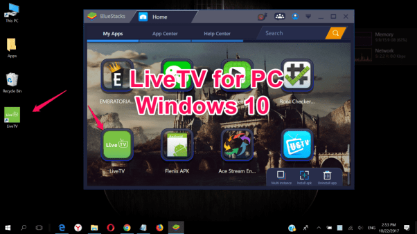 LiveTV for PC Windows 10 & Maca