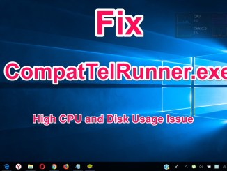 CompatTelRunner.exe fix issue High CPU and Disk Usage