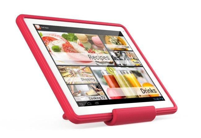 Archos ChefPad on Stand showing Chefs Apps