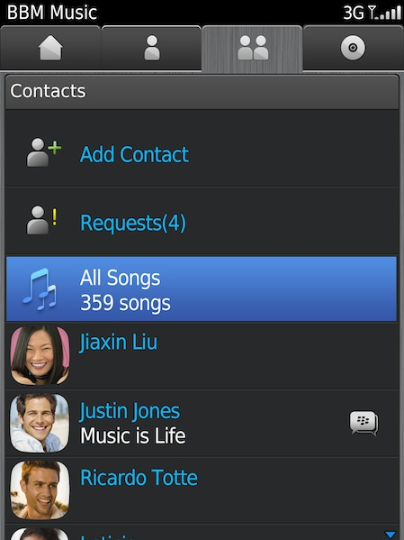 BBM Music Feature