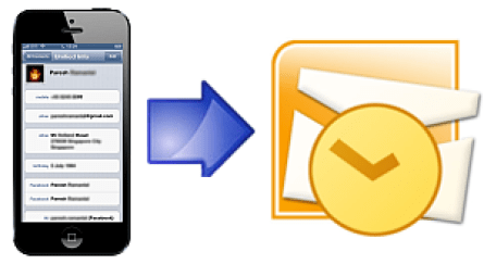 Export your iPhone contacts to Outlook