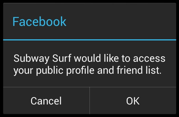 Subway Surfers Facebok Connection Error (1)