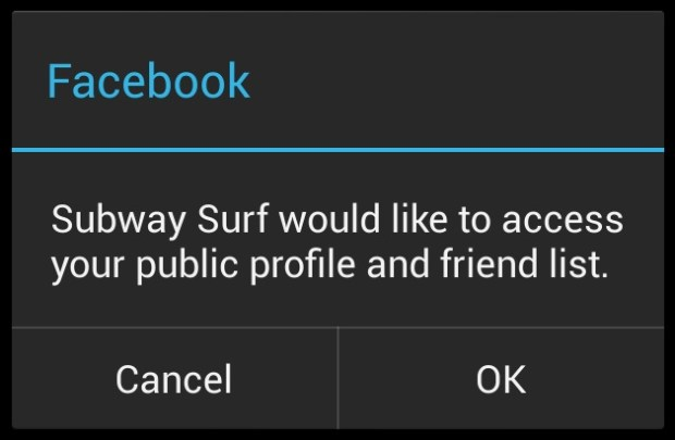Subway Surfers Facebok Connection Error (1)