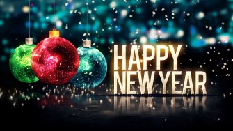 Happy New Year Balls Glitter 4K Ultra HD Desktop Wallpaper