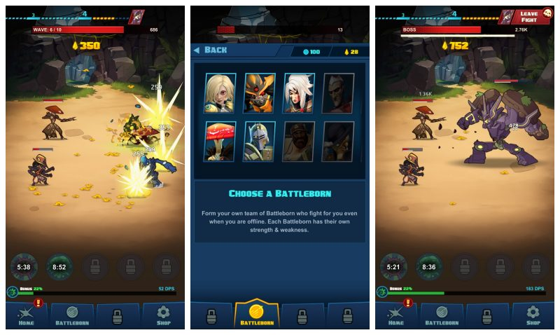 Battleborn Tap Mod APK v1 0 2 with unlimited money and coins