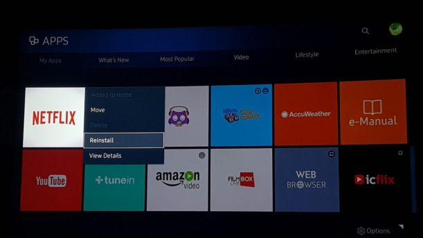 Force Netflix 4k on Samsung TV