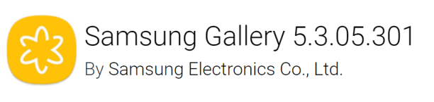 Samsung Gallery v5 3 05 301 Apk updated with latest Samsung