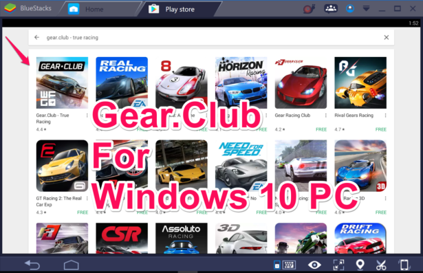 GearClub for PC Windows 10