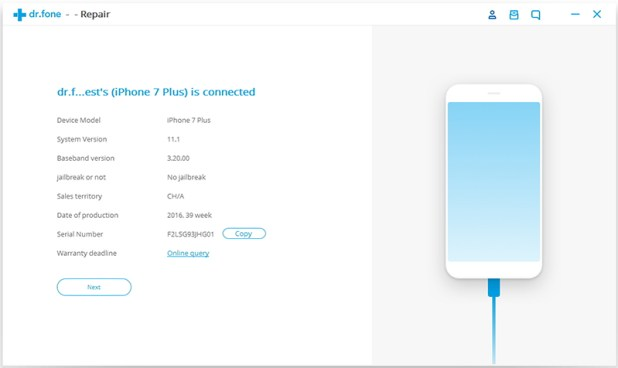 fix iPhone Stuck In White Apple Logo with Dr. fone