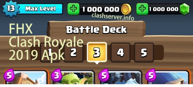 FHX Clash Royale 2.7.1 Private Server Mod apk