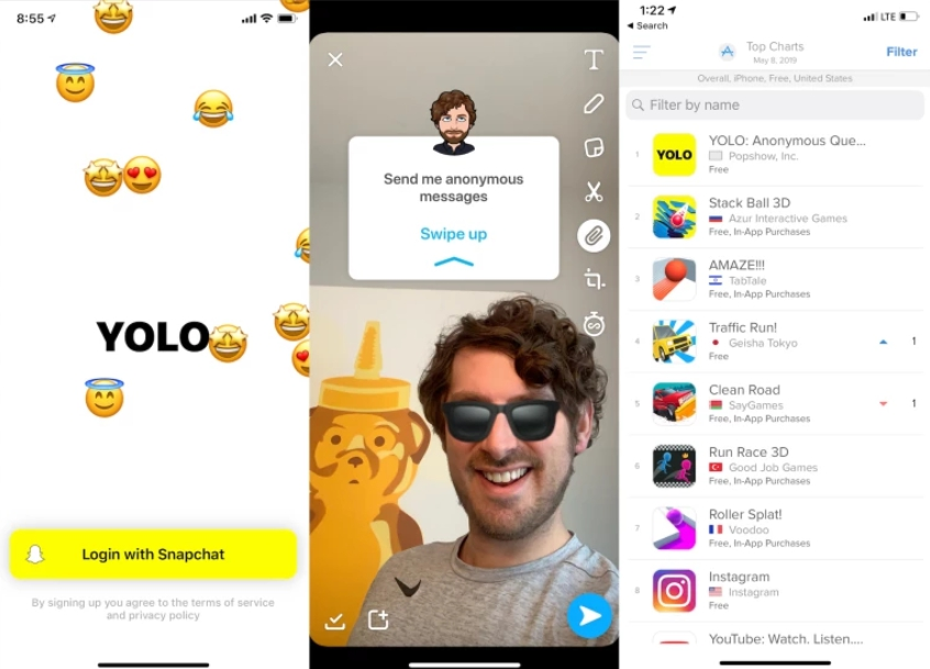 Yolo APK Ask Anonymous Questions on Android  [ Samsung